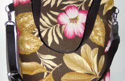 Torebka damska torba miejska kwiaty tło