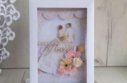 Kartka ślubna w pudełku z Młodą Parą 2 GOTOWA
