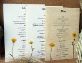 Menu weselne z kwiatami