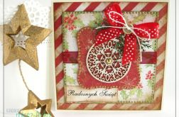 Kartka świąteczna z bombką 4