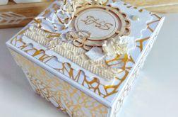 Pierwsza Komunia Święta. Złoto biały box.