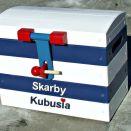"""Skrzynia kufer na zabawki """"Nautical R"""" MAŁY"""