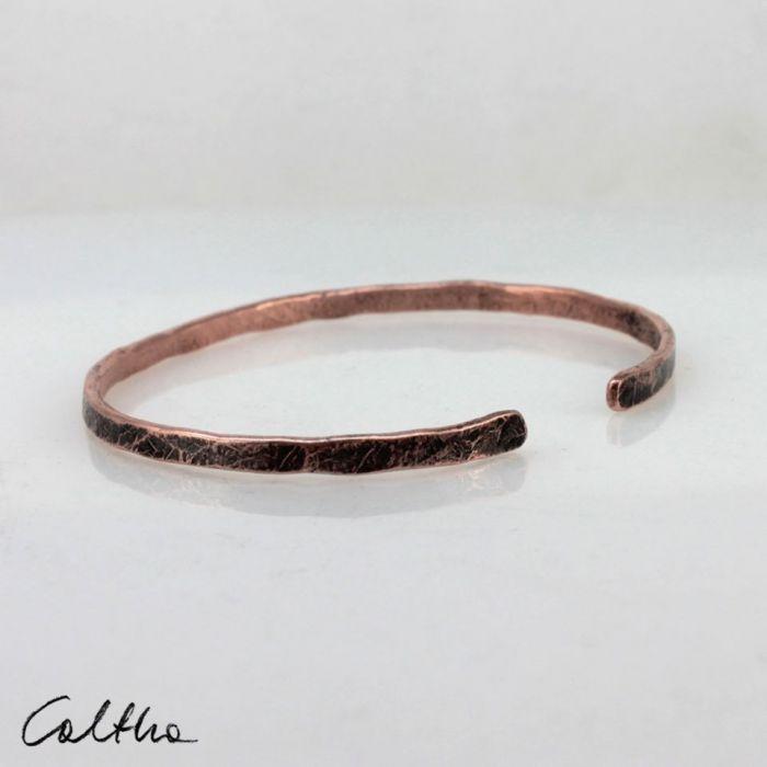 Cienka - miedziana bransoletka 190811-01 - Miedziana bransoleta