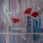 Kwiaty III - olej na płótnie
