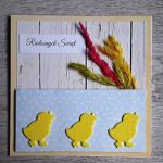 Kartka na Wielkanoc kurczaczek ręczne robiona