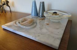 Taca z marmuru Bianco Carrara 22 x 22 cm