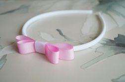 Biało-różowa opaska do włosów. Justynka.