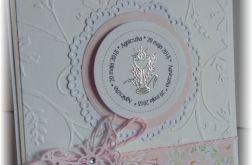 kartka komunia pamiątka dla dziewczynki