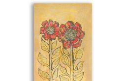 Kwiaty rysunek dekoracyjny szkic n19