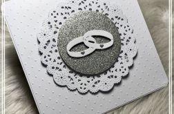Zaproszenie ślubne w tłoczone kropki