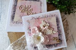 Kartka ślubna w pudełku 01