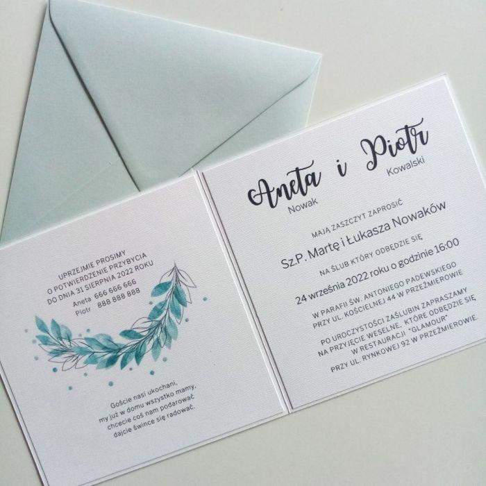 Zaproszenie ślubne z wiankiem - wianek04