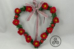 Serce z kwiatkami