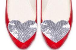 silver heart - klipsy do butów