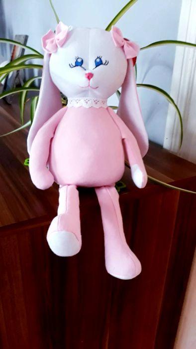 Różowa przytulanka,soft pink,króliczek - Różowy