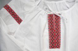 Koszula łemkowska - len biała damska