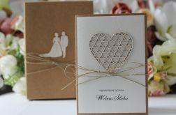 Rustykalna kartka ślubna z pudełkiem 3