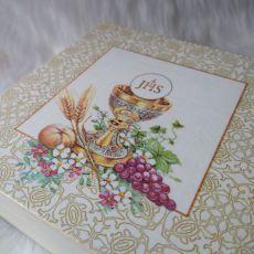 szkatułka - pamiątka Pierwszej Komunii Św. tradycyjny wzór