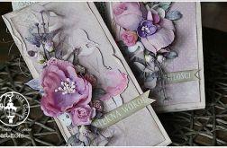 Kartka w odcieniach różu