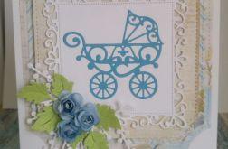 Karteczka z wózkiem