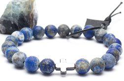 Bransoletka męska lapis lazuli hematyt 01