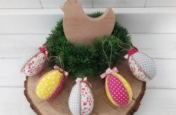 Jajka kolorowe pisanki ( róż,szare, żółte)