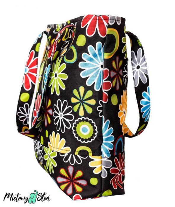 City Bag ~ wodoodporna ~ kolorowe kwiatki