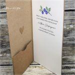 Kartka ślubna w pudełku -jagódki