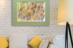 Kolorowy rysunek, obrazek szkic ogrodowy