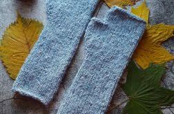 Mitenki wełniane Tweed błękitne