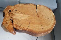 Stolik z plastra drewna dąb żywica