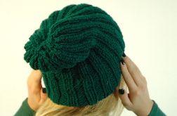 czapka ściągaczowa butelkowa zieleń