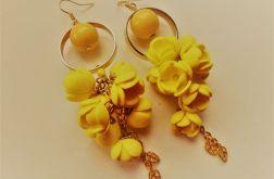 kolczyki kwiaty żółte