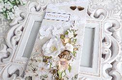 Ślubna kartka kaskadowa w pudełku 476