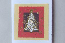 Złota choinka - kartka świąteczna