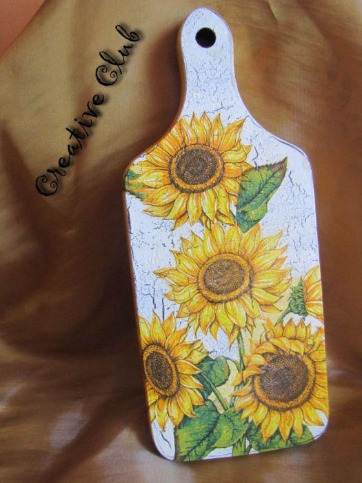 Deseczka - słoneczniki