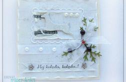 Kartka świąteczna z reniferem 1