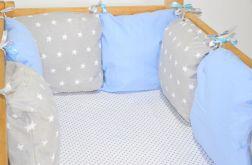 Modułowy ochraniacz do łóżeczka 6 szt N10