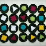 Memory filcowe - figury i kolory