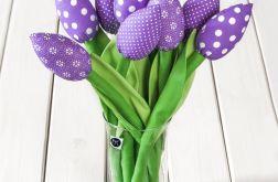 TULIPANY, fioletowy bawełniany bukiet
