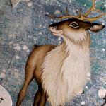 Kartka świąteczna Boże Narodzenie renifer -
