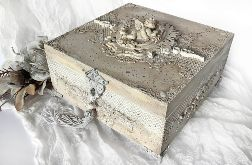 Szkatułka, pudełko vintage z aniołkiem
