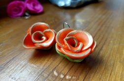 Kolczyki wiszące w kształcie róży