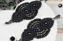 Eleganckie kolczyki wieczorowe - czarne