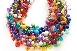 5035 tęczowy kolorowy naszyjnik kolia