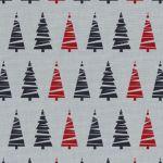 Obrus świąteczny w choinki