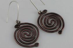 Spirala - miedziane kolczyki 190422-01