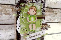 Kartka dla przyszłej mamy na zielono