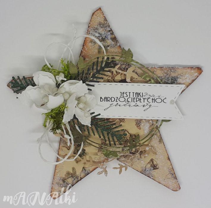 Gwiazda..Boże Narodzenie..karnet