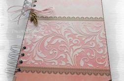 Notes różowo-brązowy